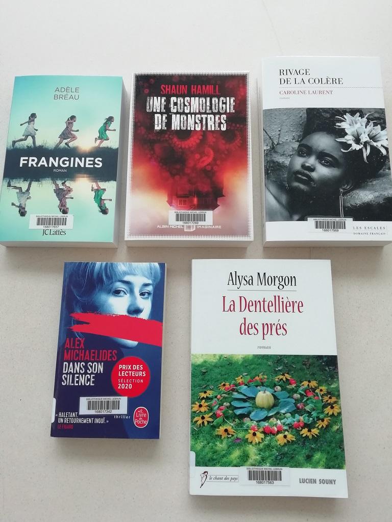 Photo des 5 titres sélectionnés